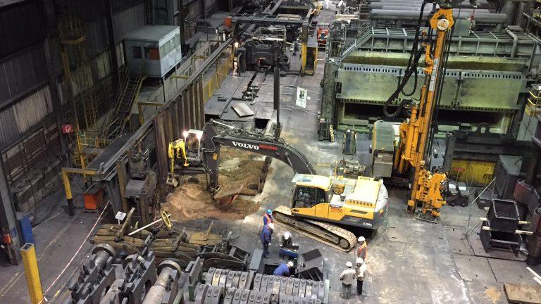 Werksumbau unter laufendem Betrieb